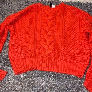 Orange H&M knitted Sweater